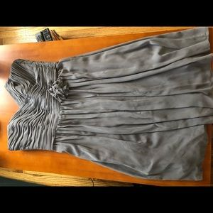 Charcoal Grey strapless dress